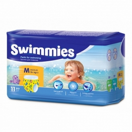 Трусики дет Swimmies Medium (12 кг +) д/плавания 11 шт.