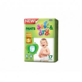 Подгузники-трусики дет Helen Harper  Soft&Dry junior №5 (12-18кг) 17шт